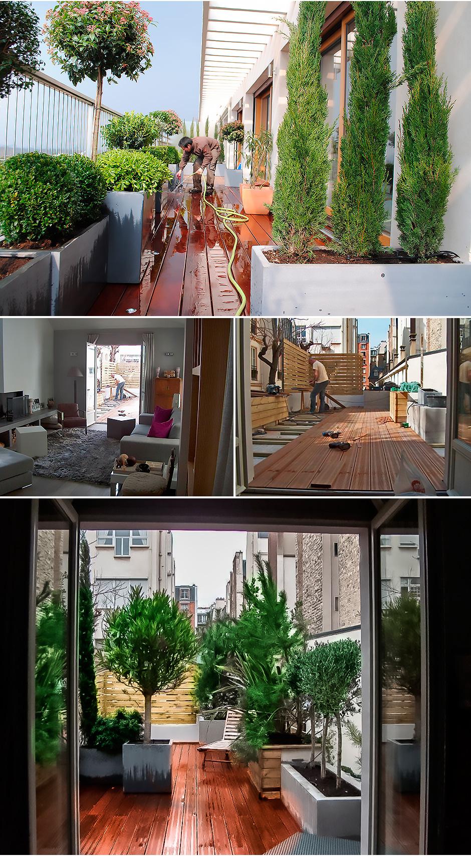 am nagement cr atif de terrasses paris paysagiste. Black Bedroom Furniture Sets. Home Design Ideas